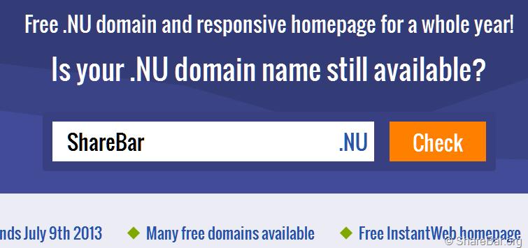 .Nu 免费顶级域名注册