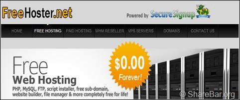 Free-Hoster 免费10G空间