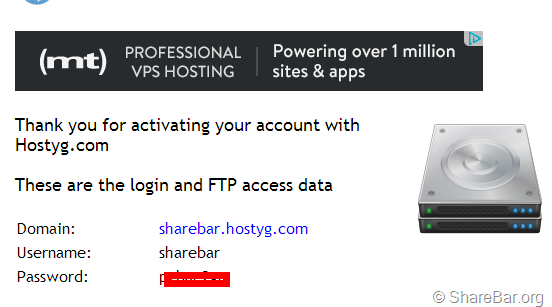 Hostyg免费空间申请全过程
